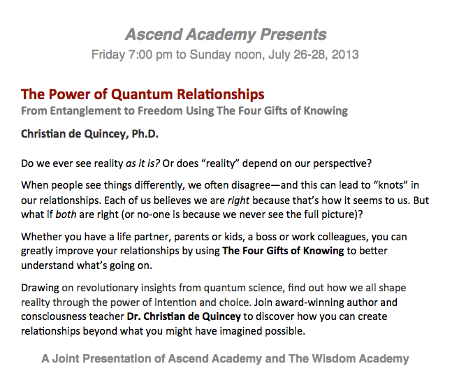 Power of Quantum Relationships blurb